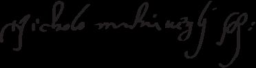 assinatura de Maquiavel