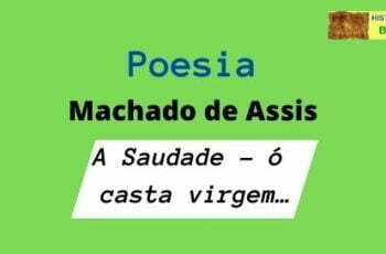 poesia A Saudade - ó casta virgem